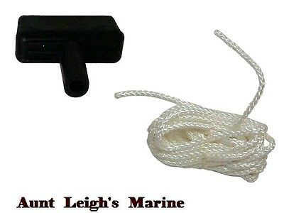 New Marine Outboard Starter Rope And Handle Replaces Sierra 18-4904