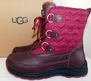 3f431a6ae19 Details about NEW WOMENS 8.5 CORDOVAN UGG LACHLAN SNOW WATERPROOF LEATHER  SHEEPSKIN SKI BOOTS