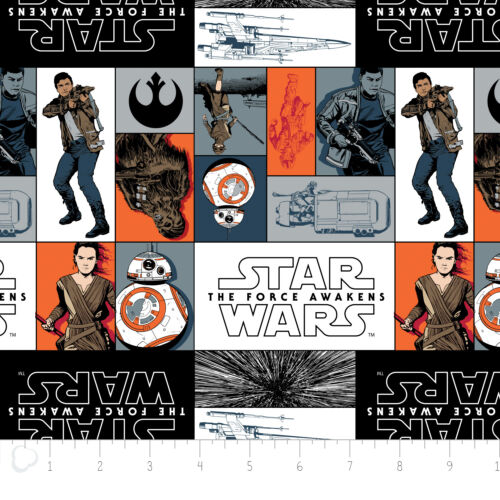 Imperial Fighters Star Wars Force Awakens #106-3 Quilt Fabric by the 1//2 yd