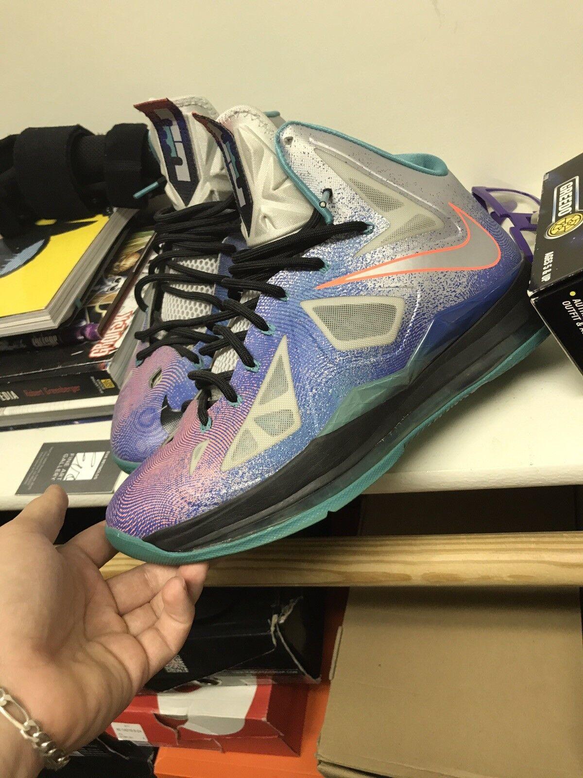 Nike Lebron 10 Pure Platinums Size 10.5 Mens Basketball shoes
