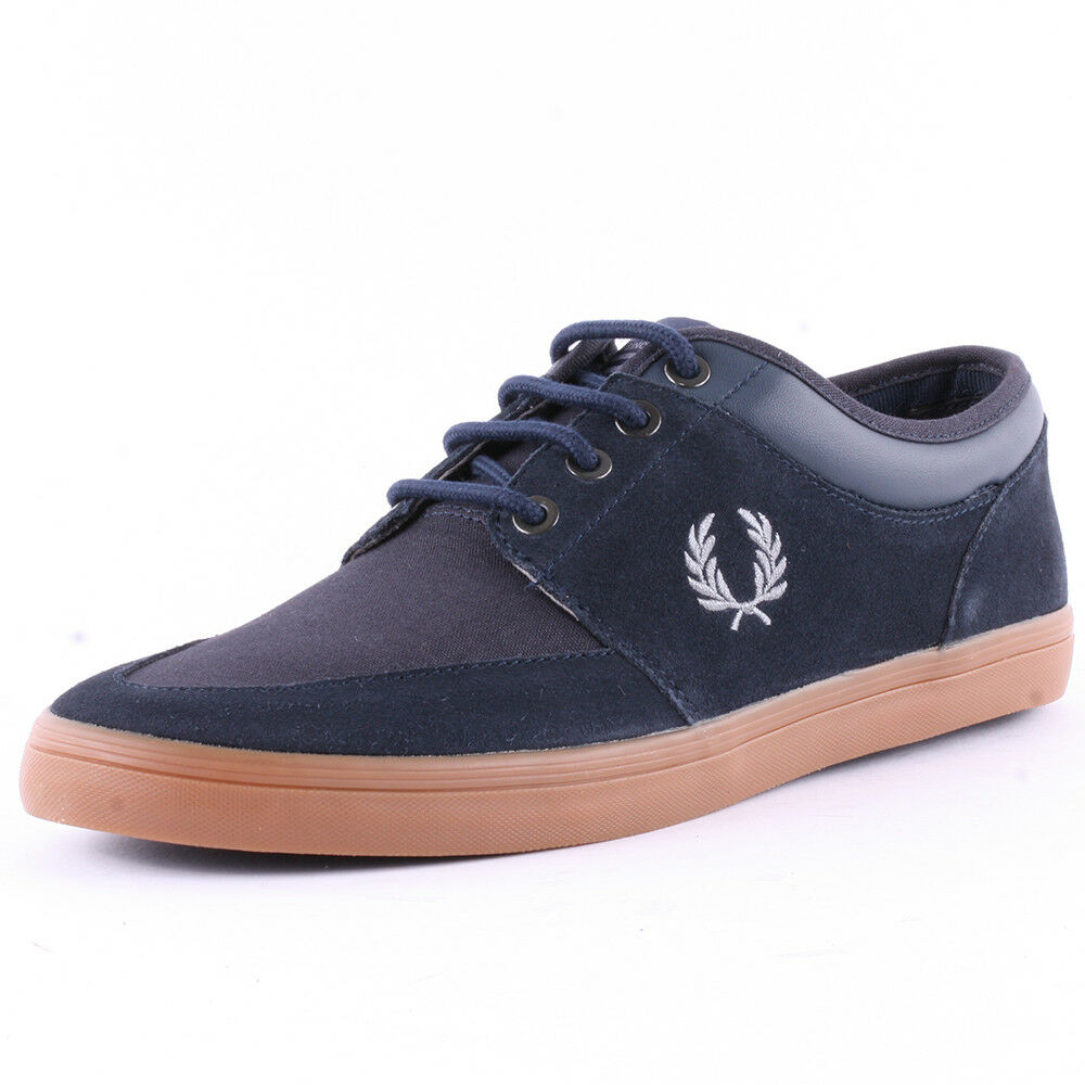 Fred Perry Men's Stratford Suede Leather Trainers Casual shoes B6288-608