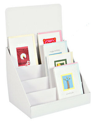 4X compact cardboard greeting card display stands 4 tier - counter or table top