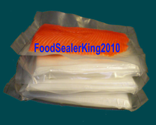 5Mil 100 Pcs 15″ x 18″ Bag FoodSealer Weston Vacuum Sealer FoodSaver Bags Rolls