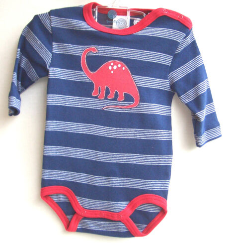 SANETTA Baby-Body  1//1 Arm marine Motiv Dinosaurier  Gr 56 UVP 14,95 €