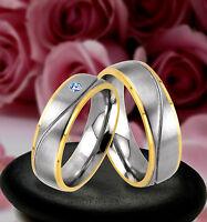 2 Trauringe  Eheringe Verlobungsringe mit echten Blautopas inkl GRAVUR , JE20-1B