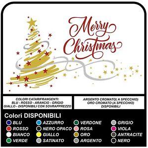 Adesivi Buon Natale.Adesivi Albero Di Natale Buon Natale Merry Christmas Vetrofanie Natalizie Ebay