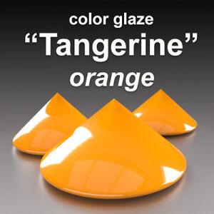 """#fr """"mandarine"""" Double Quantité Basf Emaux Glaçure Couleur Céramique Earthenware"""