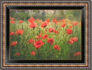 "Hand painted Original Oil Painting art landscape Flower on canvas 24""x36"""