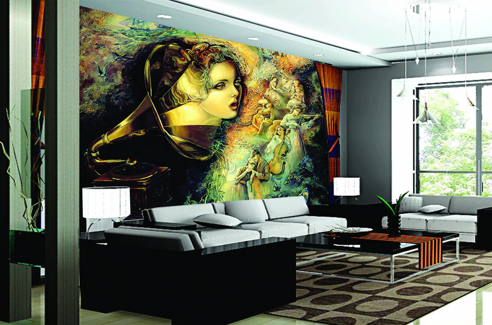 3D Abstract Band 88 Wall Paper Murals Wall Print Wall Wallpaper Mural AU Kyra