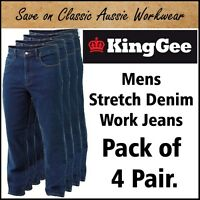 King Gee Mens Stretch Denim Work Jean K03390  21 Sizes Available