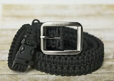 550 Lb. Survival Military Grade Paracord Belt + FREE Matching Paracord Bracelet