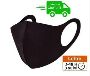 Masque de protection Noir lavable et réutilisable ENVOI RAPIDE 48h/72h