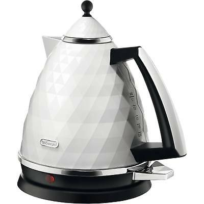 Delonghi KBJ3001.W 1.7L 3 kW Rapid Boil Brillante Jug Kettle in White New