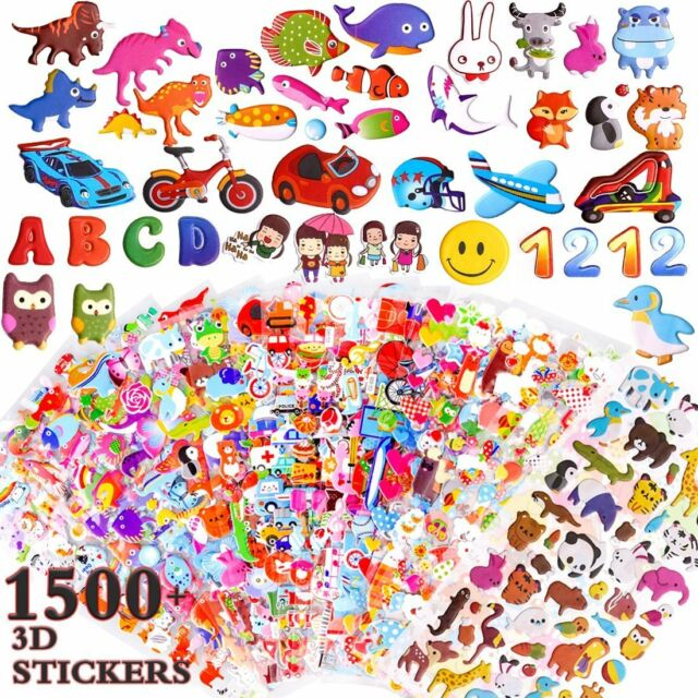 ZesGood 25 Pack Stickers for Kids 3D Puffy Stickers for Kids, Fashion Stickers