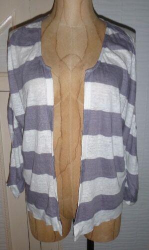 brand new Nicole Farhi Striped batwing Cardigan Linen various