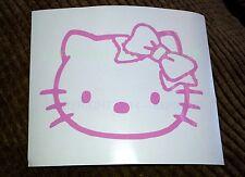 HELLO KITTY Head Face Bow Vinyl decal sticker car-truck-bumper-window-ipod-ipad