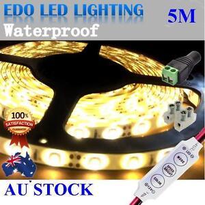 12V-WARM-White-5M-3528-SMD-300-LED-Strips-Led-Strip-Light-Waterproof-Dimmer