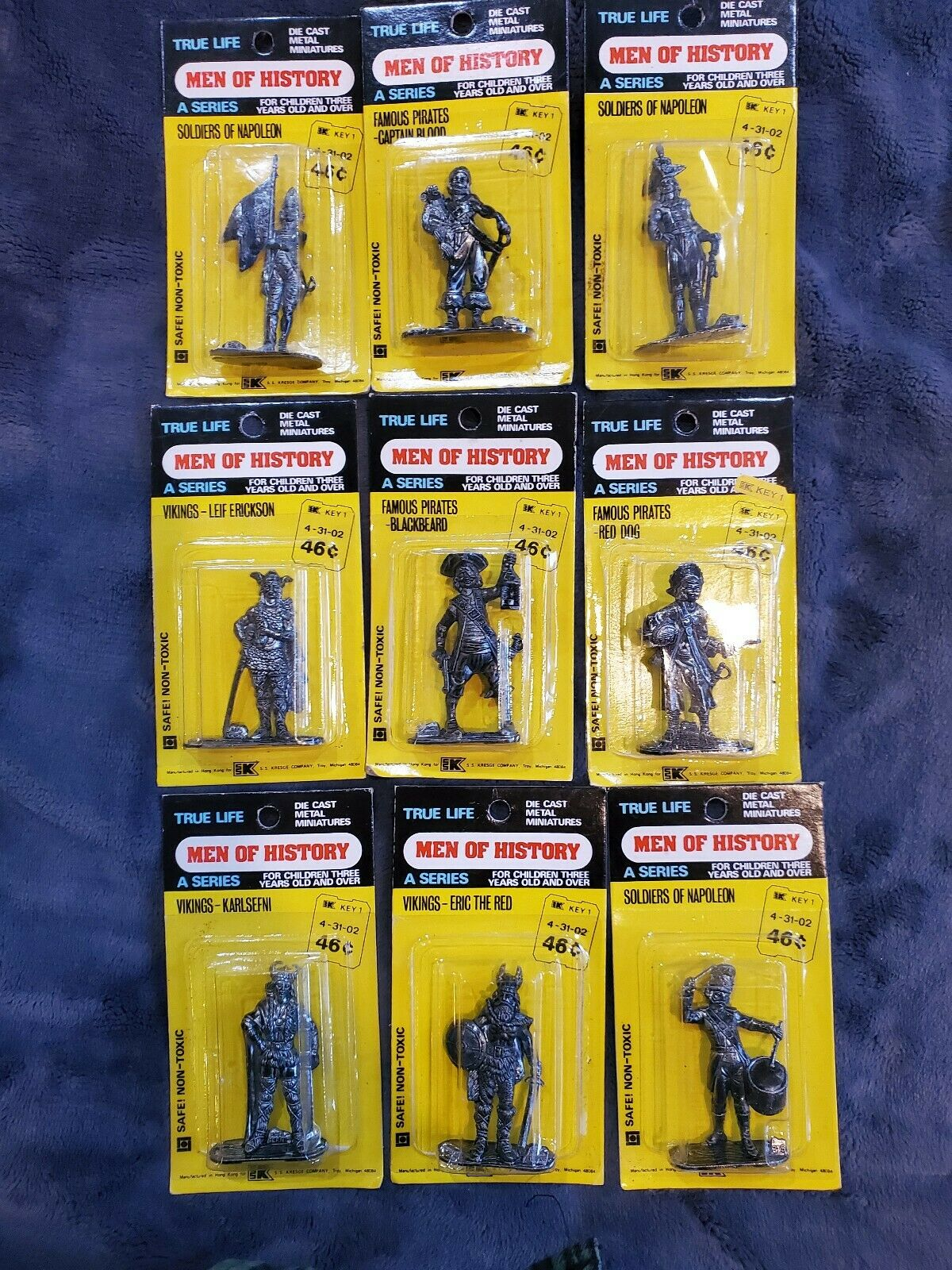 Sie Of History Die Cast Miniature New in Package 6 pieces
