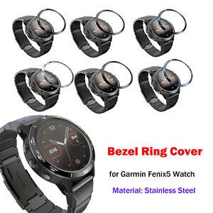 Uhr-Luenette-Ring-Anti-Scratch-Etching-Numbers-Schutzhuelle-Ring-fuer-Garmin-Fenix5