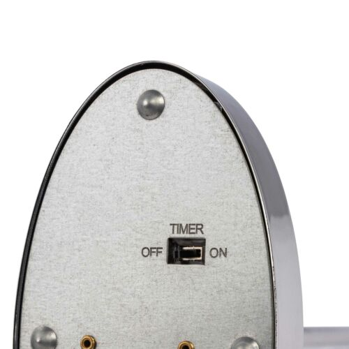 """LED-Draht-Standstern /""""Double Side/""""chromfarbenMetall Weihnachtsstern Lampe"""