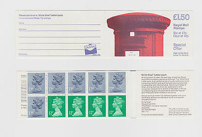 GB STAMP  £1.50  FOLDED BOOKLET 1986 Pillar Box Write Now  SG FP1  Mint