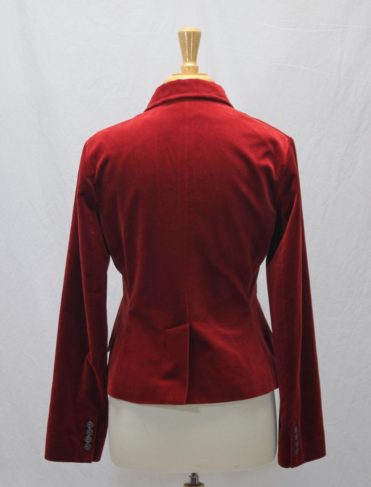 Ralph Lauren Red Velvet Blazer Jacket Size 10 - image 7
