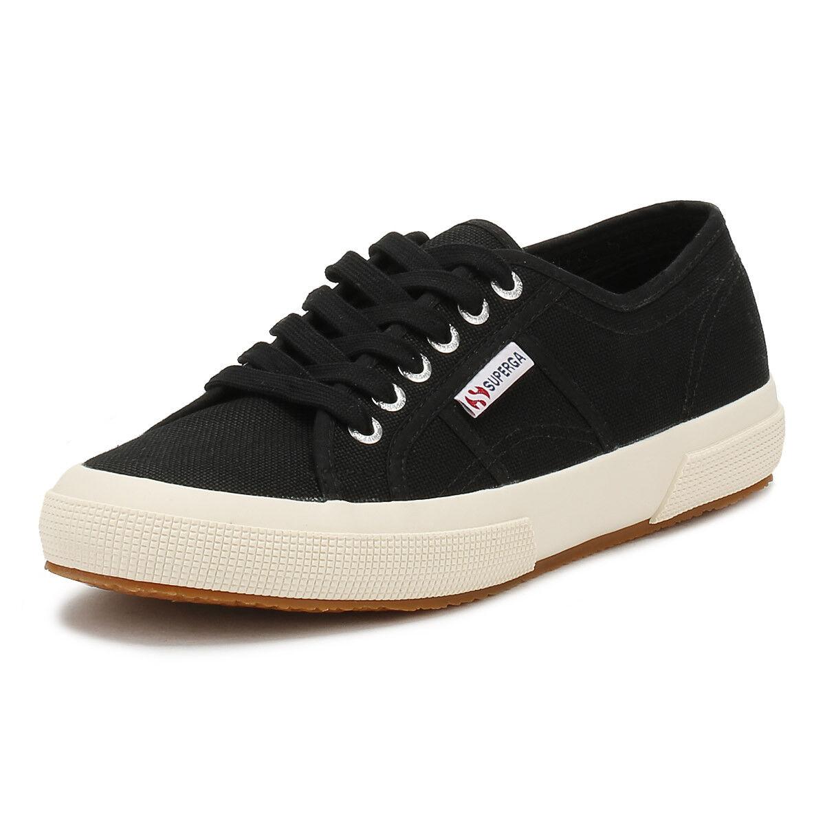 Superga Unisex Trainers Black 2750 Cotu Sport Casual Lace Up Mens Womens Shoes