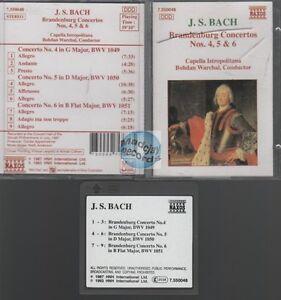 MINIDISC J.S. Bach Branderburg Concertos Nos 4 5 6 NAXOS bohdan warchal