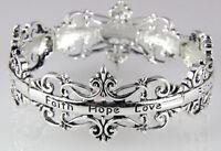 4031311 Faith Hope Love Bridal Wedding Bracelet Princess Bride Day Groom Cere... on Sale