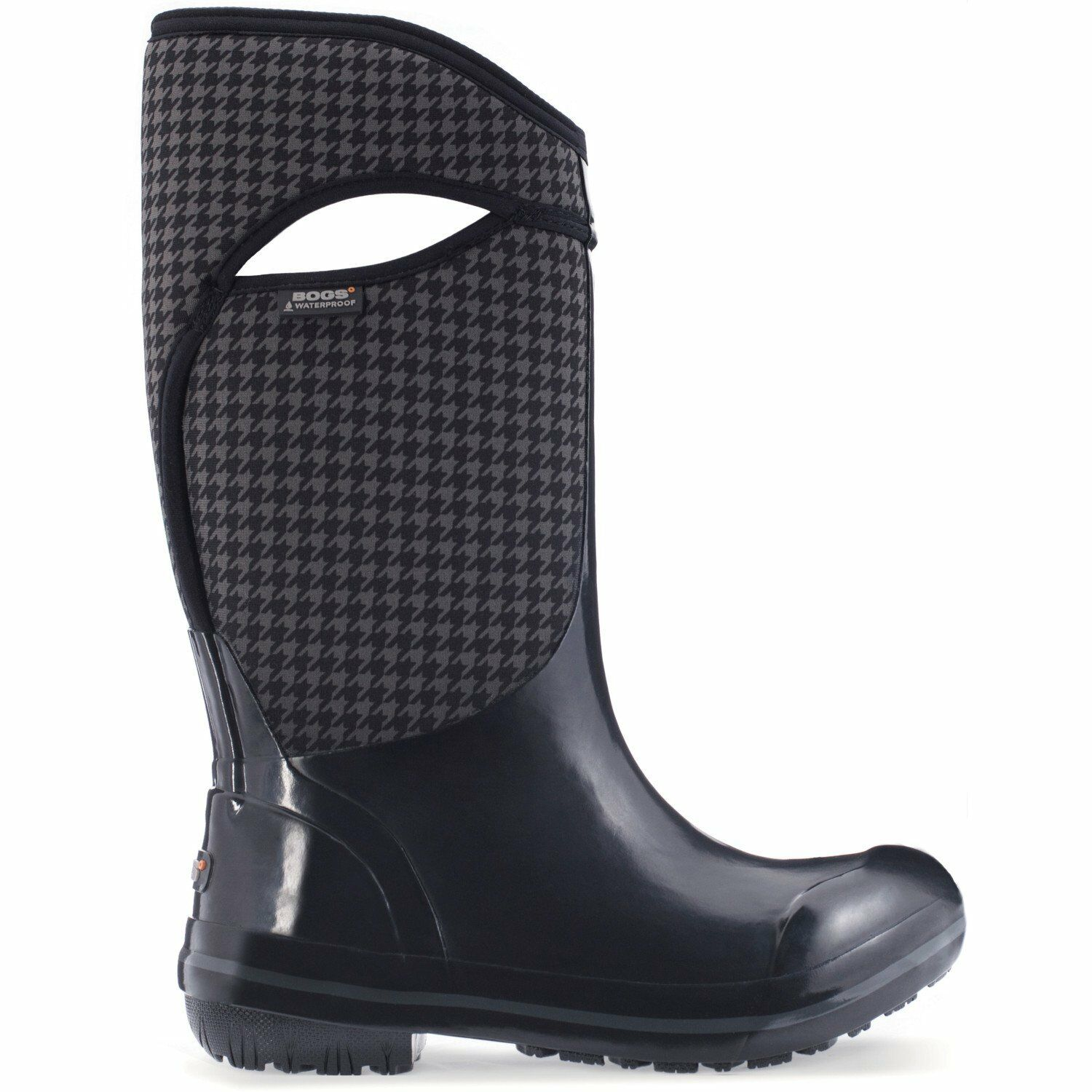 Bogs Plimsoll Houndstooth Tall Womens Boots Wellies - - - Black Multi All Sizes 76531c