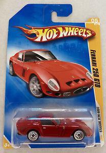2009-HotWheels-FERRARI-250-GTO-RED-Nuovo-di-zecca-MOC