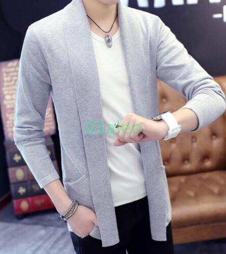 Chic Spring Mens 2018 Slim Fit Sweater Autumn Cardigan Casual Thin Coats Knitted