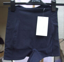 Yummie Tummie Shaping Swiss Dot & Diamond Navy Boy Shorts Control Corset SZ S