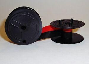 Sharp EL-1057 EL-1058 EL-1095 Calculator Ink Ribbon Black and Red Pack of 2