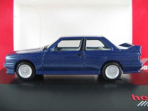 Herpa-363419-BMW-M3-1986-1990-034-Modell-1988-034-in-blaumetallic-1-87-H0-NEU-OVP-PC