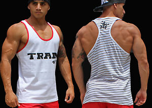 9817a00e63eeea Image is loading mens-tank-top-gym-tanks-tops-bodybuilding-stringer-