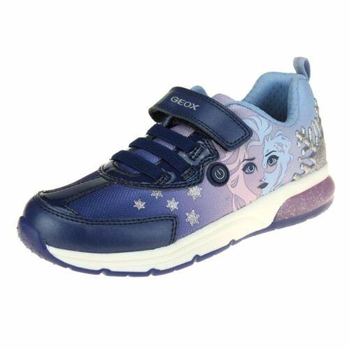 Geox Spaceclub Girls Navy-Lilac Lights Trainer size eu kids children hook loop