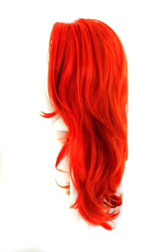 """22/"""" Layered Straight Cut with Partial Skin Top no Bangs Autumn Orange Wig NEW"""