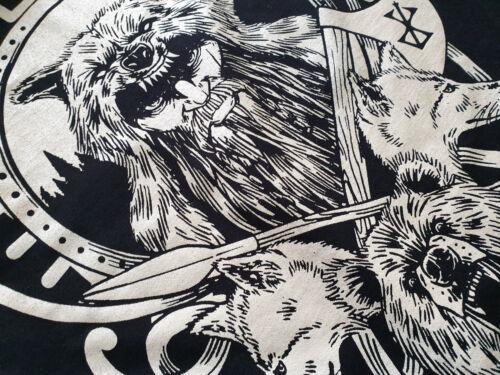 Odin Loco t-shirt azul Hugin Thor Mjölnir Viking munin teutones