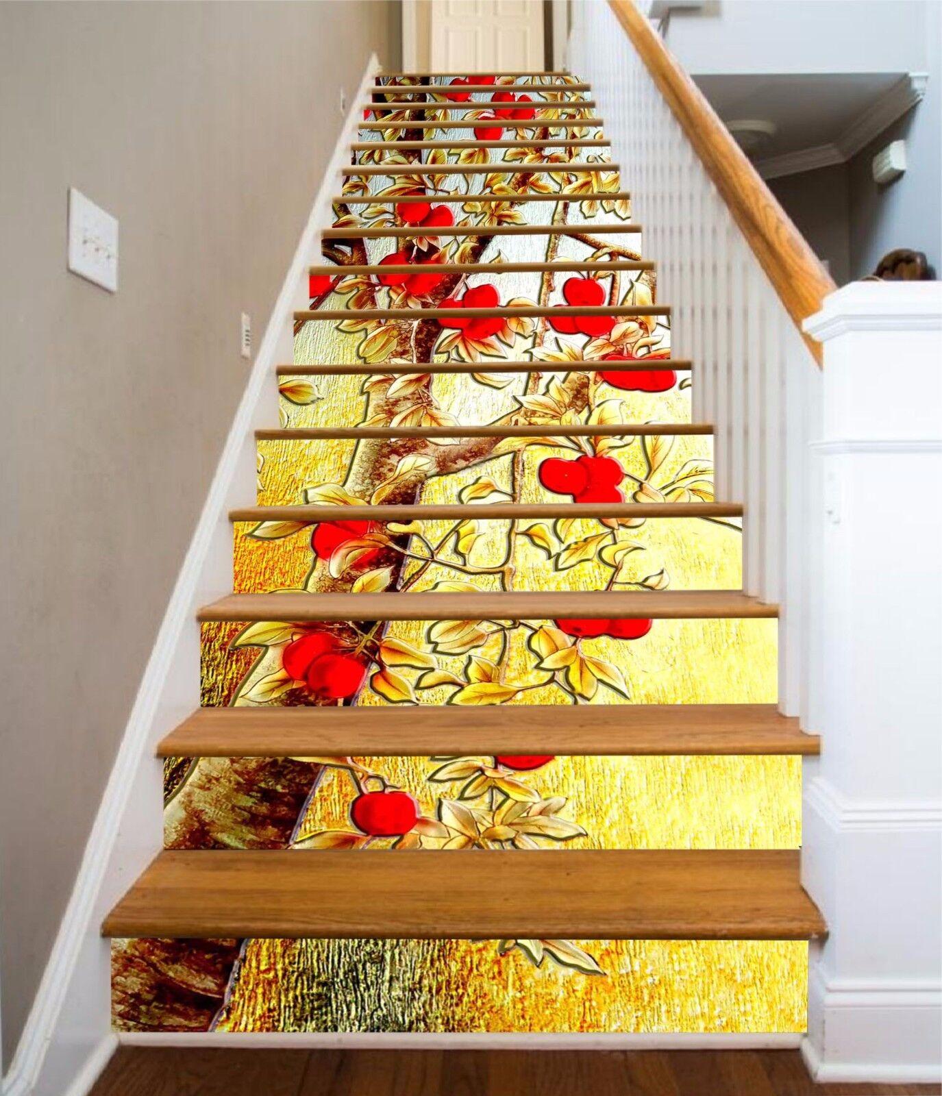 3D Hawthorn Tree 84 Stair Risers Decoration Photo Mural Vinyl Decal WandPapier AU
