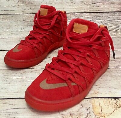 0e6e4aaacf6 Nike KD 7 NSW Lifestyle QS Mens 9.5 Basketball Shoes Durant Red Suede  653871-600