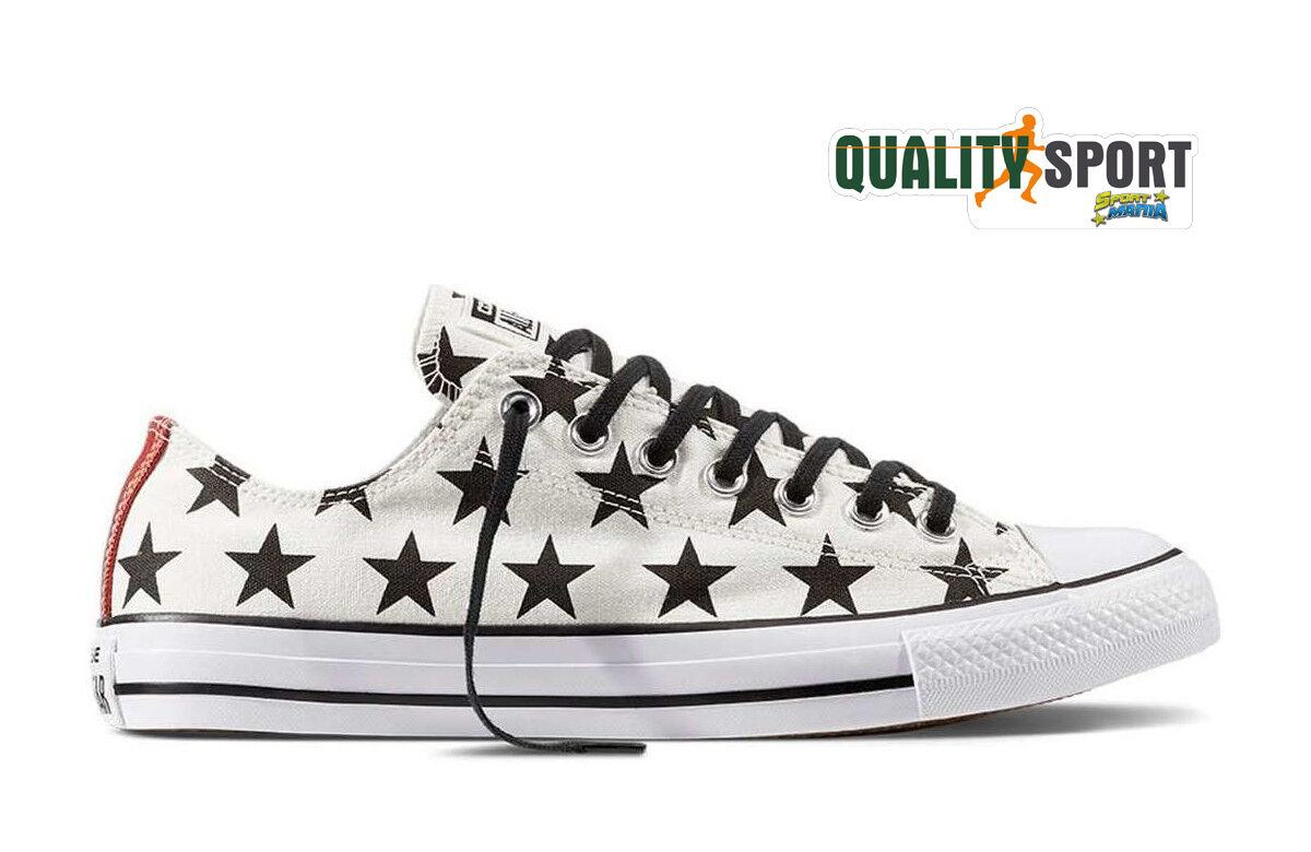 Converse All Star Bianco + Stelle Unisex Scarpe Sportive Sneakers 156823C Scarpe classiche da uomo