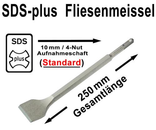 SDS-plus Fliesen Breitmeißel Gebogen 40mm x 250mm Meißel Spatmeißel Abgewinkelt