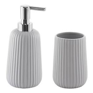 Paglialunga Ceramiche Prima Porta.Set Accessori Bagno Con Dosasapone E Porta Spazzolini In Ceramica