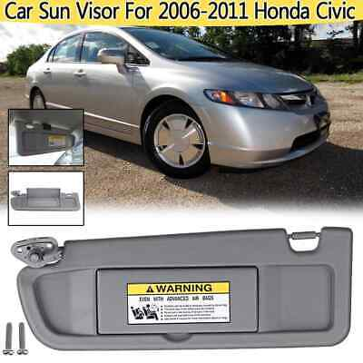 MOTOALL Left Driver Side Sun Visor for Honda Civic Assembly 2006 2007 2008 2009 2010 2011 83280-SNA-A01ZB Beige Pearl Ivory