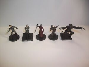 Star-Wars-Miniatures-Rare-Very-Rare-Lot-5-Figures-No-Cards