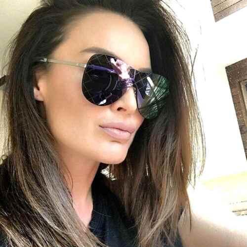 Designer Inspired Oversized Runway Shield Sunglasses Women Fashion