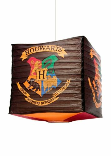 OFFICIAL HARRY POTTER HOGWARTS CREST CUBE LIGHT SHADE LAMP SHADE LIGHT SHADE