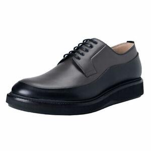 Dior Men's Gray Black Leather Derby
