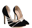 Women-High-Heel-Pumps-Slip-On-Stiletto-Faux-Suede-Wedding-Classic-Pointy-Shoes thumbnail 4